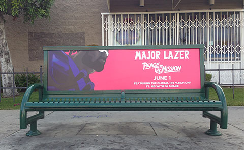 Bus Bench Ads In Nashville Los Angeles More Dash Two