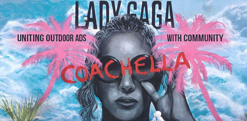 Lady Gaga Coachella Mural in Community Setting