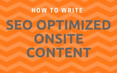 How to Write SEO-Optimized Onsite Content