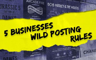 5 Businesses Wild Posting Rules