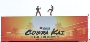 Cobra Kai Billboard Build Out