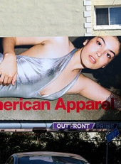 Outdoor Ad Marquee American Apparel
