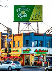 Outdoor Ad Marquee Lime