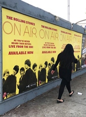Outdoor Ad Marquee RollingStones