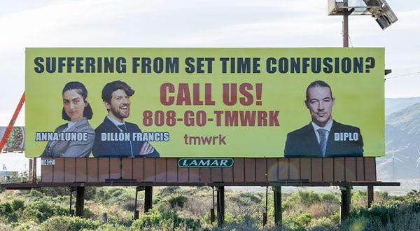 Dillon Frances, Anna Lunoe, Diplo - Coachella Billboard