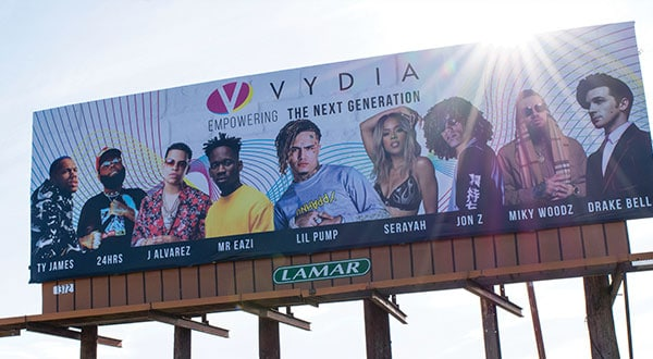 Vydia Coachella Billboard