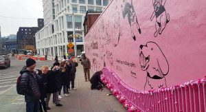 Klarna Interactive Mural one block from dog park – Brookyn, NY