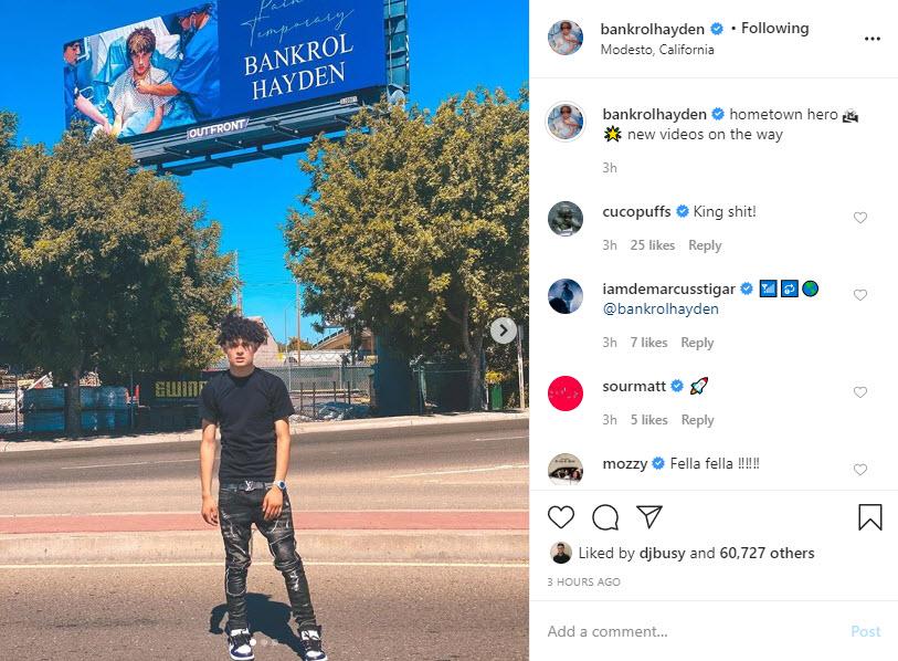 Bankrol Hayden Instagram Selfie 1