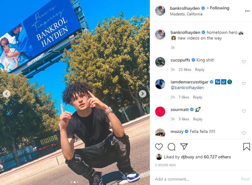 Bankrol Hayden Instagram Selfie 2