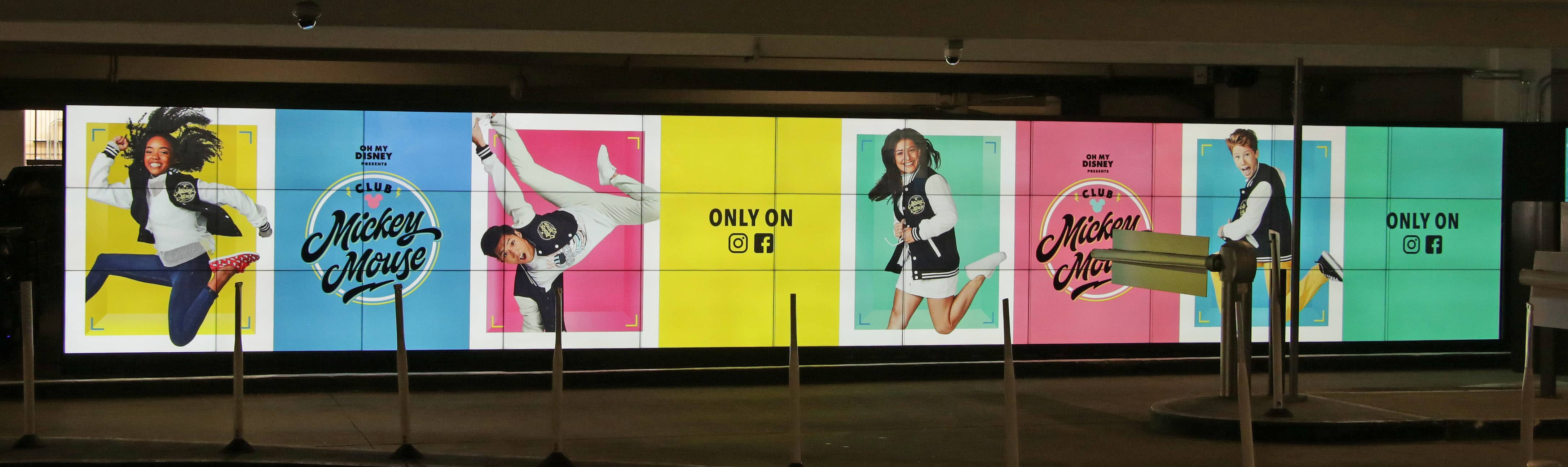 Mall Garage Digital Signage